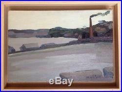 Denyse LOUIS 1913-1985. Bord de mer à la cheminée. HST. 24x37. SBD. Circa 1960