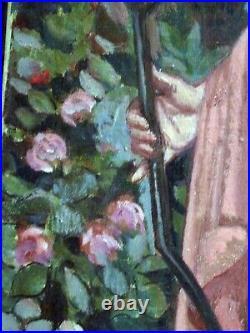 Diane, Huile Sur Toile Typique Des Années 1930/50