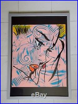 Dillon Boy Rich Girls don't Cry Peinture Originale sur Toile Graffiti Art