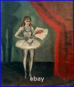 Dlg de Van Dongen HST Danseuse Peinture Tableau Ballet Fauvisme