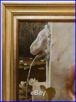 Dmitri Kalujni, Signée Original Classique Huile Peinture sur Toile de un Nymphe