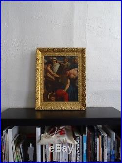 EXCEPTIONNELLE PEINTURE XIXe LE CHEMIN DE CROIX DU CHRIST- L'ÉCOLE DE INGRES