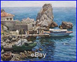 Ecole Russe Tableau Maison Anton Tchekhov Gurzuf Crimee Mer Noire Paysage Russia