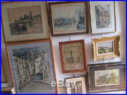Ecole de barbizon. Paysages Huiles sur toile ou panneau signées