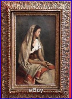 Ecole Française Femme Tableau Peinture France Barbizon Italie