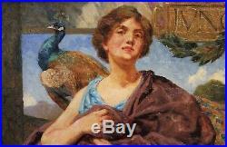 Ecole française XIXe, Junon, Héra, tableau, France, mythologie, peinture, Art