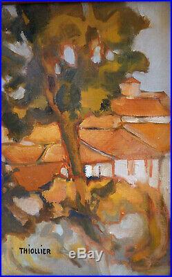 Éliane THIOLLIER (1926-1989) HsT Fauvisme Jeune Peinture Nle Ecole de Paris