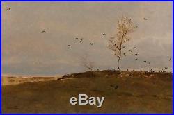 Emile BARAU (1851-1930) LES CORBEAUX SOMPTUEUX PAYSAGE DU DANEMARK MUSEES
