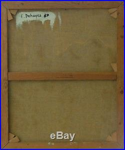 Emile DEHAYES (1920-) HsT 1971 / Ecole belge / Expressionnisme Expressionism