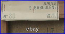 Eugène BABOULENE- Huile/toile Le ganghi v1248