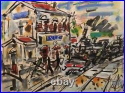 Eugène PAUL dit GEN PAUL (1895-1975). Gouache v206