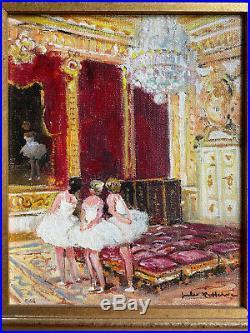 Exceptionnelle Huile sur toile JULES HERVE danseuses grosse cotation Artprice