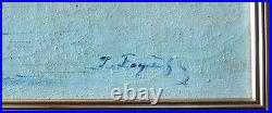 Faget-germain 1890-1961. Grand & Magnifque Impressionniste. Bord De Mer Brumeux