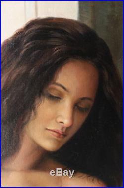 Femme nue intégrale tableau peinture huile sur toile / nude female oil painting