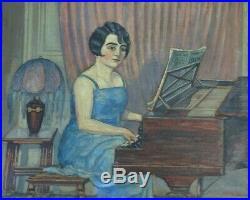 Fernand Laval Peintre De Montmartre Ami D'utrillo Huile La Pianiste Benezit 1926