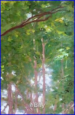 François FORICHON, Paysage, tableau, peinture, impressionisme, Art Nouveau