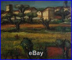 Franz PRIKING (1929-1979). Paysage de Provence. Huile sur toile. V288