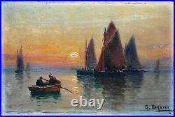 GASTON CORBIER (1869-1945) Huile sur carton v1157