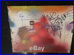 GHOST RIS graffiti signé sur carton toilé cope2/futura/taki/quik/seen/rd357