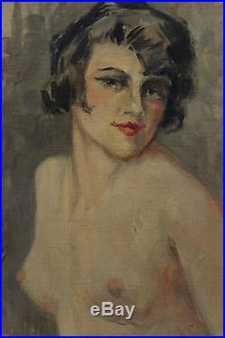 GRAND NU DE FEMME ART-DECO, Yves DIEY (1892-1984)