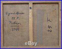 Gabriel ROBIN (1902-1970) HsT 1945 Jeune peinture Ecole de Paris Cubisme Cubism