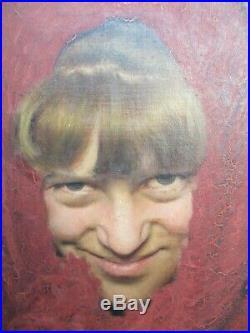Gaetano Bellei 1857-1922 tableau peinture HST portrait smiling Woman