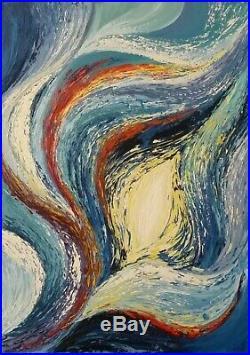 GalinaN''ORIGINE'' uvre UNIQUE huile sur toile original fait à la main signée