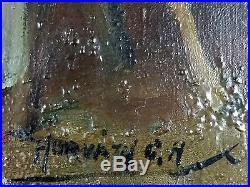 George A. Horvath (Canadien, 1933) Ancien Tableau Peinture Huile Original