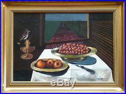 Georges DIMOS (1923) HsT Années 60' / Surréalisme Surrealism / Expressionnime