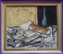 Georges DIMOS (1923) HsT Signée de 1959 Expressionniste Expressionnist
