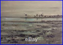 Georges LAPORTE (1926-2000) La pointe de grave Huile sur toile v1