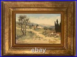 Georges LEROUX, paysage de Provence, huile sur toile signée