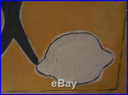 Gino Gregori 1972 / toile canvas / 100x50 cm / Poisson Soleil été / Cubisme