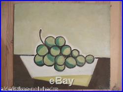 Gino Gregori / toile canvas / 45,5x51 cm / Nature morte aux raisins / cubisme