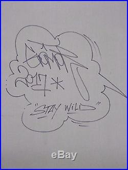 Graffiti Art. Peinture Originale sur Toile de Gomor Stay Wild. Signée