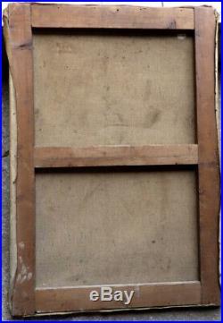 Grand Nu D'atelier 1930. Beau Tableau Anonyme Proche De Kvapil & André Lhote