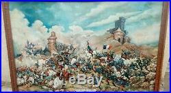Grand Tableau / Bataille 1ère Guerre Mondiale Régiments Français & Allemands