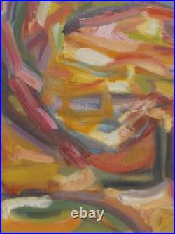 Grand Tableau peinture Huile 56cm/42cm Abstrait Picard référence