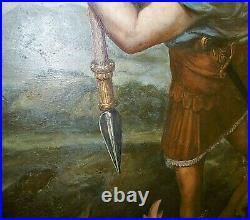 Grand tableau peinture/huile/toile XIX ème d'après Raphaël. 81,5 x 131,5 cm