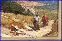 Gustave Vidal (1895-1966), Etang de Berre. Tableau, huile sur toile