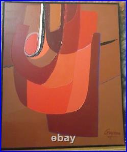 Guy LECLERC-GAYRAU (Né en 1942) Composition rouge. V1314