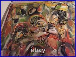 HRASARKOS Acrylique sur toile Femmes Orientales 145 x 182 cm