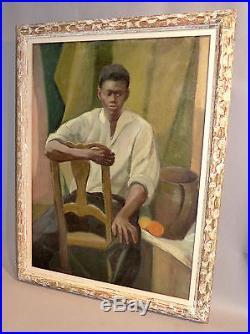 HST Ecole africaniste des années 30. Signée. Cadre de l'école de Montparnasse