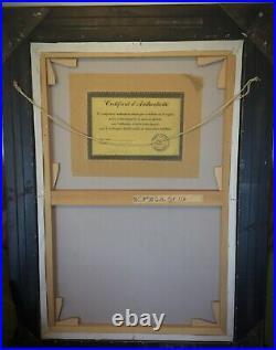 HST FEMME DOS NUE, GRANDE PEINTURE CONTEMPORAINE SIGNÉE- NUANCE ABRICOT 107x77cm