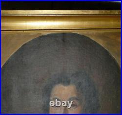 HST, Portrait d'homme dans le goût fin du XVIIIè peinture ancienne fin XIX -1900