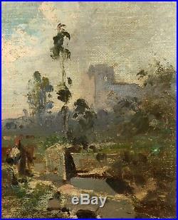HUILE SUR TOILE 19ème ADOLPHE APPIAN (1818-1898)