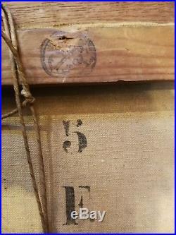 HUILE SUR TOILE LA DARSE DE L'AMIRAUTE A ALGER attribuable à J. D. BASCOULES