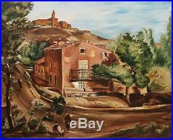 Henry de WAROQUIER tableau paysage Italie Toscane village huile école de PARIS