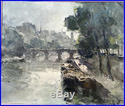 Hermann Edouard Wagner (1894-1963) Huile Sur Toile La Cité Au Matin Encadrée