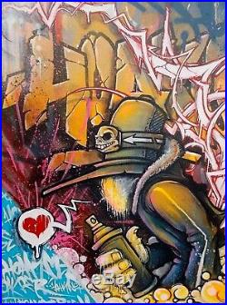 Hookser Anonymous , Peinture Originale Signée, Street Art Graffiti